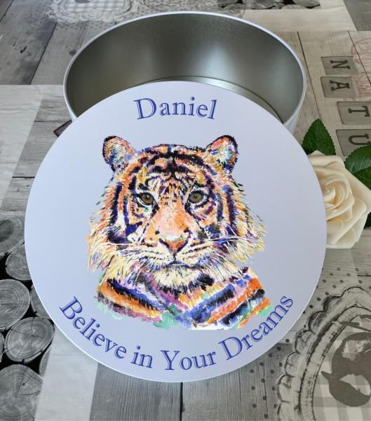 Water Colour Tiger Lg Round#2