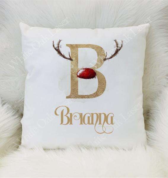 Red and Gold Alphabet Cushion
