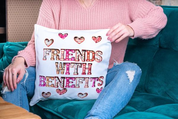 Friends With Benefits Cushion