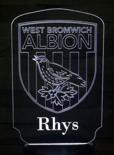 LED Night Light West Bromwich Albion 1