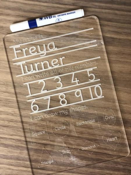 Personalised Tracing Board Letters, Numbers & Shapes 1