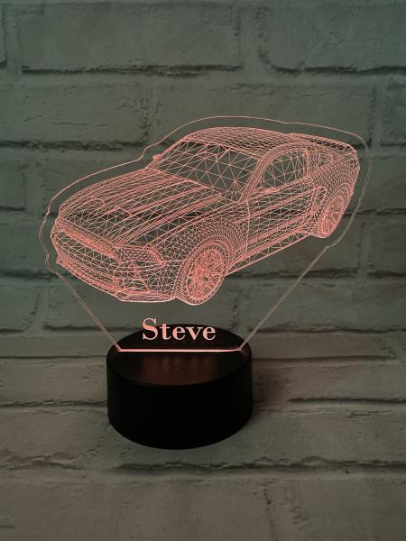 LED Mustang 3D LED Illusion Night Light Personalised 1