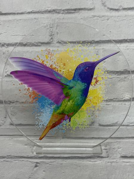 Humming Bird Plaque with Stand1
