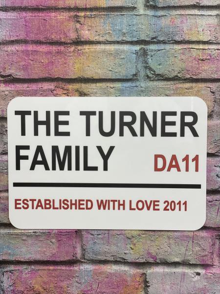 Personalised Family Name, London Street Sign1