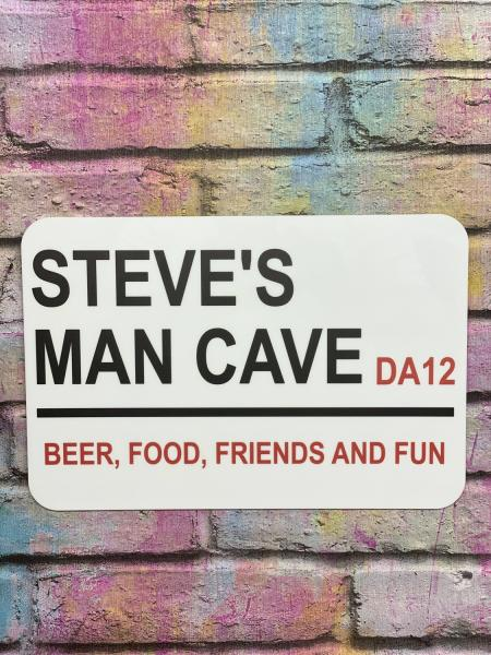 Personalised Man Cave London Street Sign1