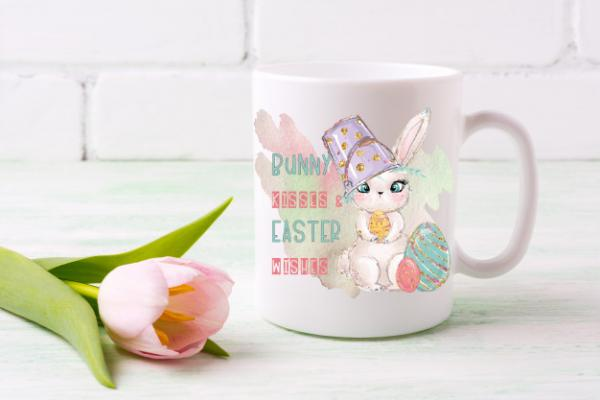 Easter Mug - Bunny Kisses and Easter Wishes